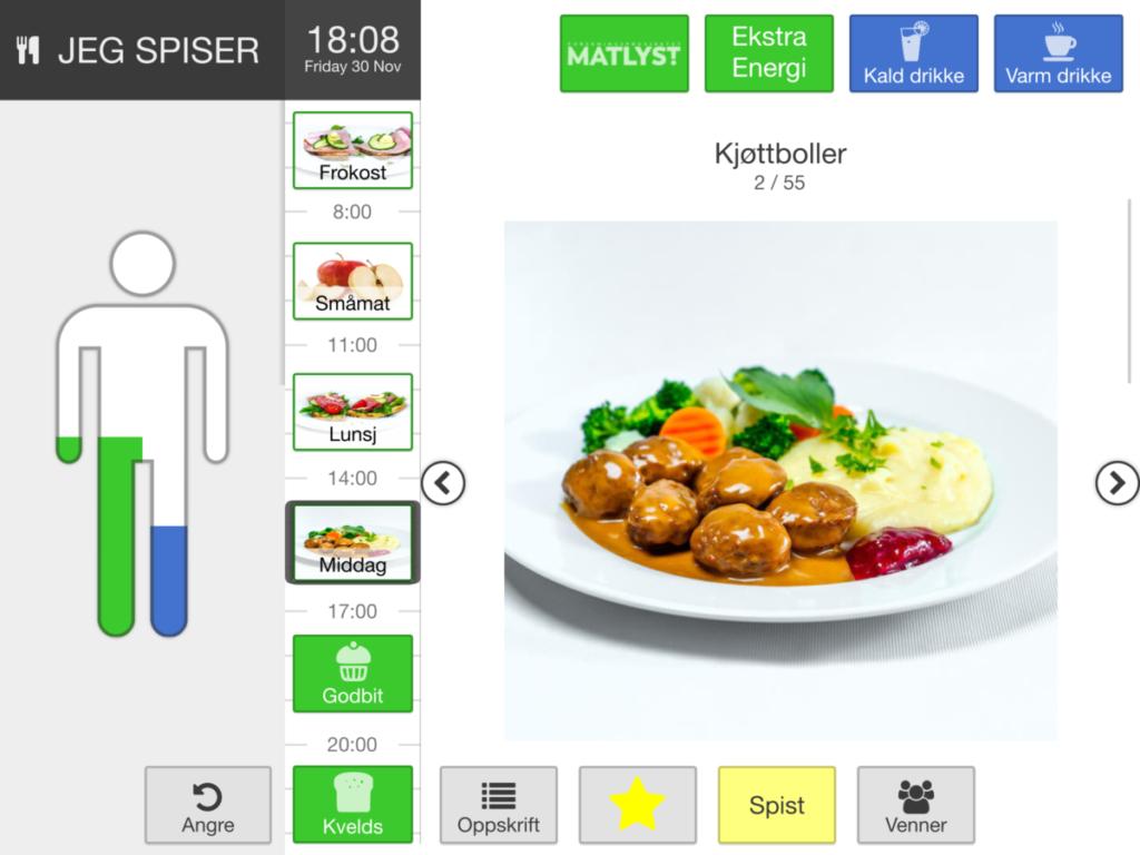 Appetitus app bilde av middagsrett