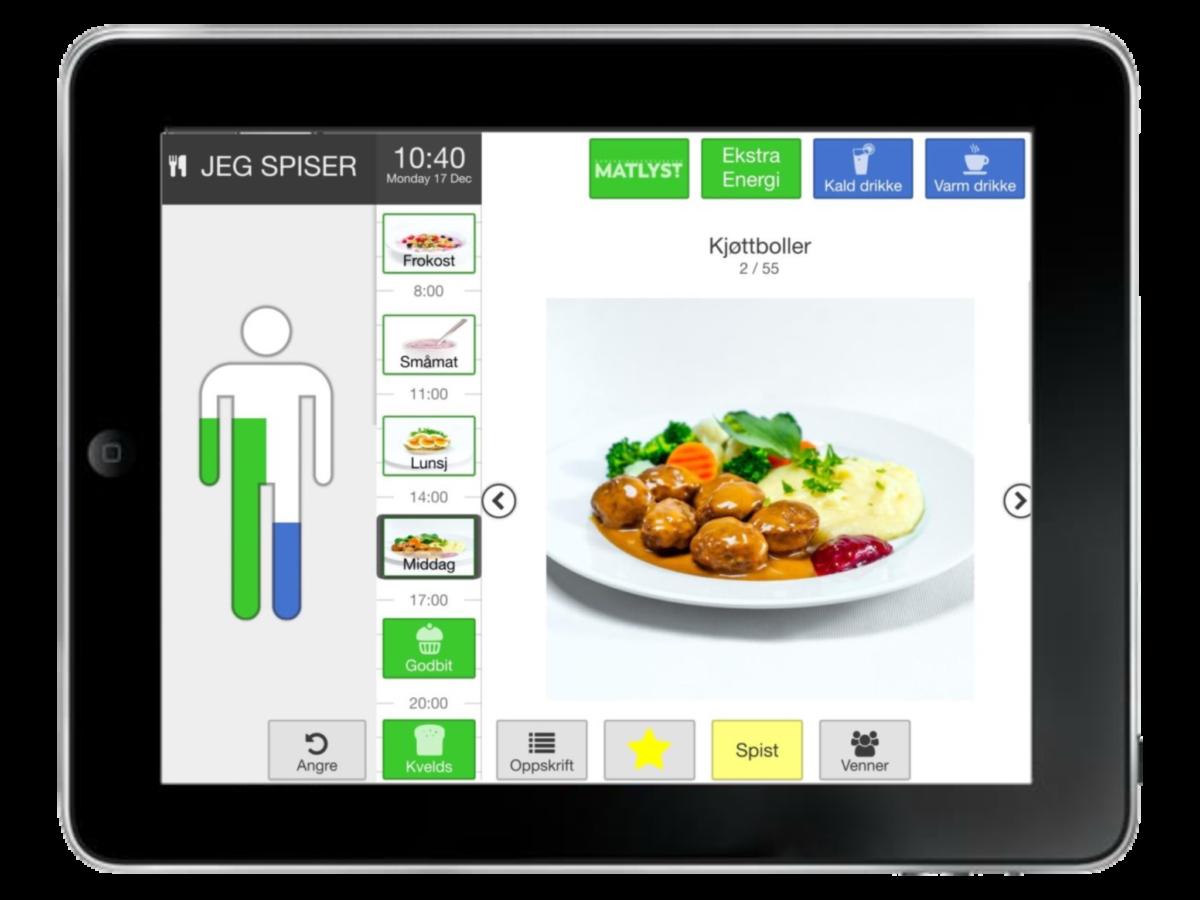 iPad med appen i bruk